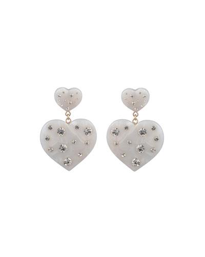 Amante Heart-Drop Earrings