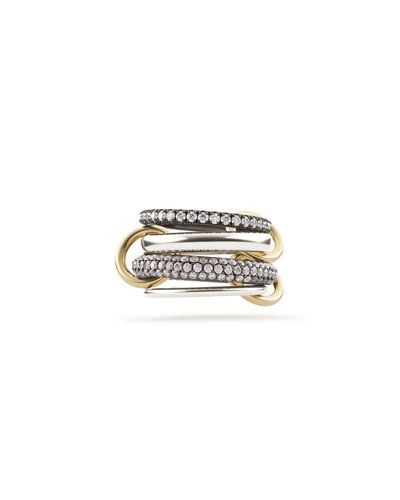 Vega 4-Link Silver & Gold Ring