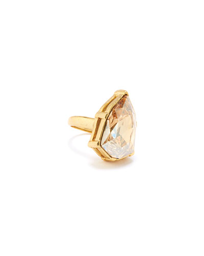 Gallery-Set Crystal Ring