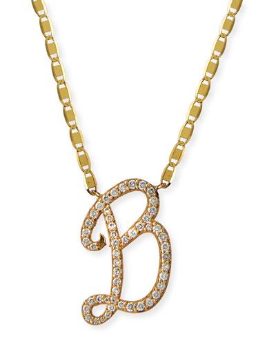 14k Malibu Diamond Initial Necklace