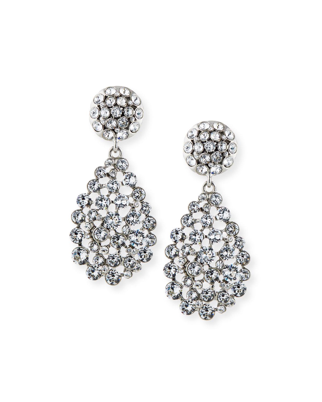 Oscar De La Renta Jewelry CLASSIC TEARDROP CLIP EARRINGS