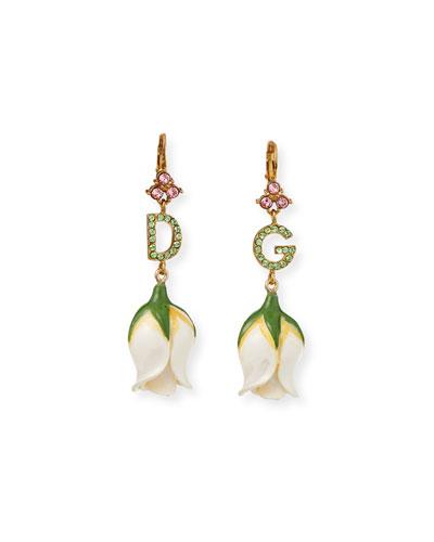 DG Crystal Tulip-Drop Earrings