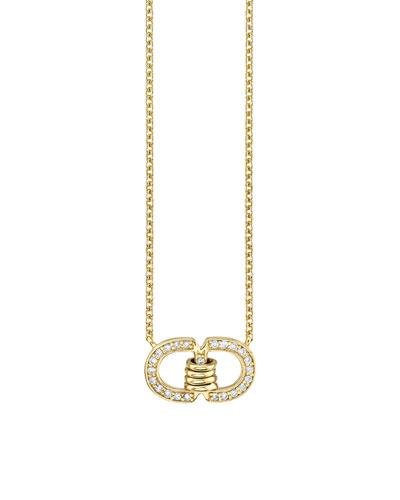14k Diamond Pave Link Necklace