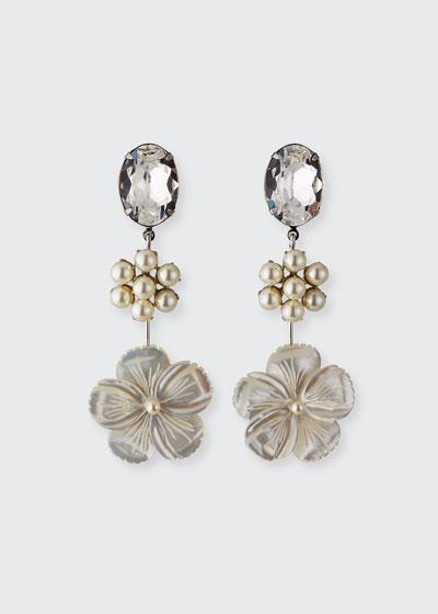Kora Linear Earrings, Pearly