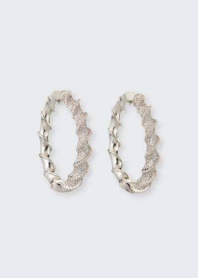 Helix Pave Hoop Earrings