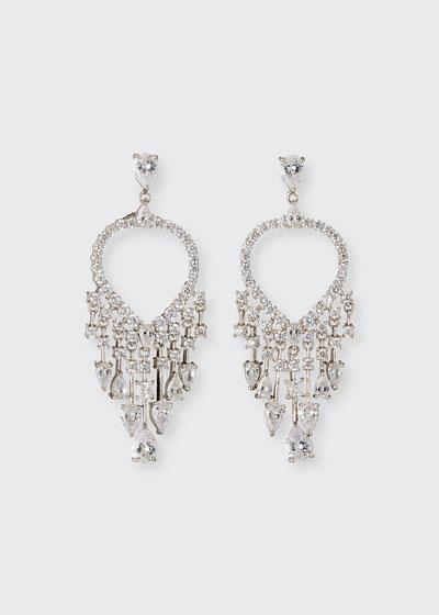 Peacock Hoop-Drop Earrings