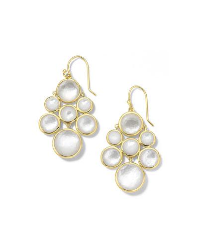 18K Lollipop Multi-Stone Cascade Earrings in Mother of Pearl Doublet