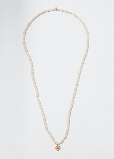 Mystic Quartz Necklace with Evil Eye Coin