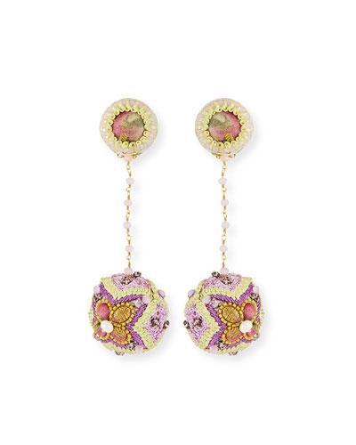 Elisa Ball and Chain Clip Earrings