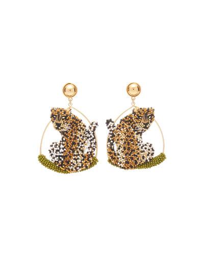 Leopard Swing Earrings