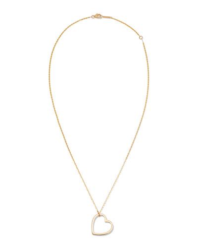 14k Medium Heart Pendant Necklace