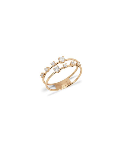 14k 2-Band Solo Crown Ring, Size 7