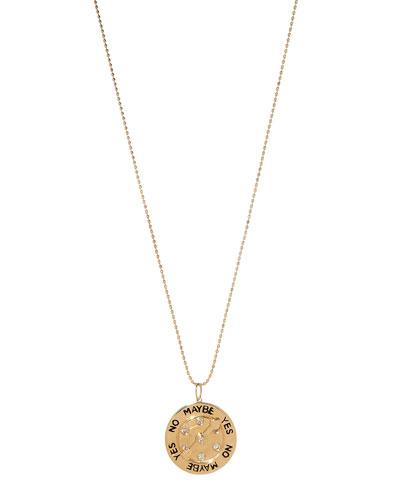 14k Diamond Love Meter Charm Necklace