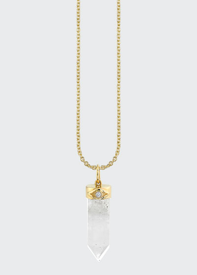 14k Diamond and Crystal Charm Necklace