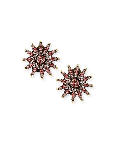 Camila Crystal Clip Earrings