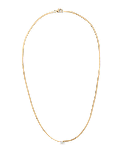 14k Solo Diamond Liquid Gold Necklace