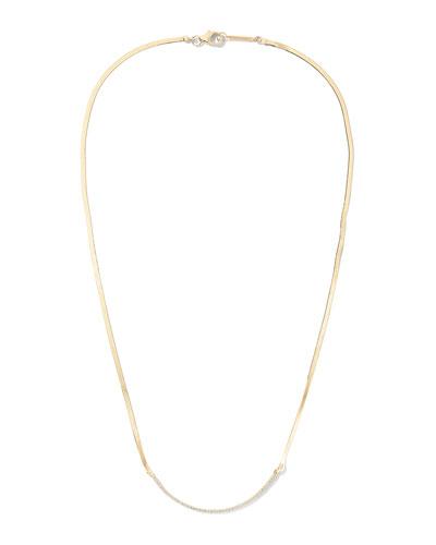 14k Liquid Curved Diamond Necklace