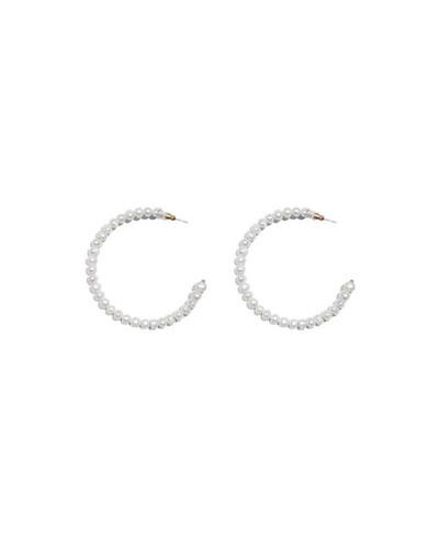 Pearl Hoop Earrings, 2