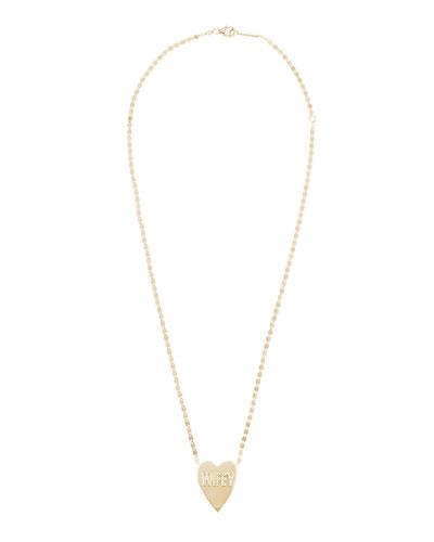 14k Wifey Heart Pendant Necklace