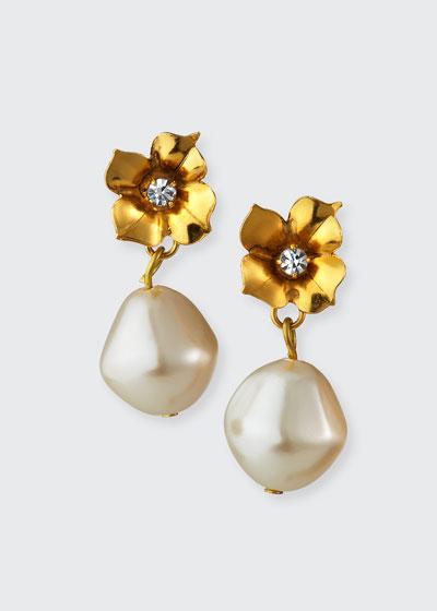 Teresina Swarovski & Glass Pearl Earrings