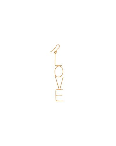 18k Big Love Drop Earring, Single