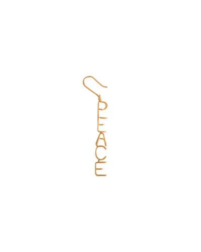 18k Peace Drop Earring, Single