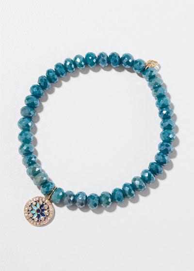 Kaleidoscope Quartz Bead Bracelet