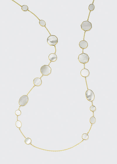 18K Polished Rock Candy Crazy Eights Necklace in Mother-of-Pearl
