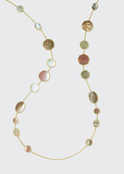 18K Polished Rock Candy Crazy Eights Necklace in Dahlia