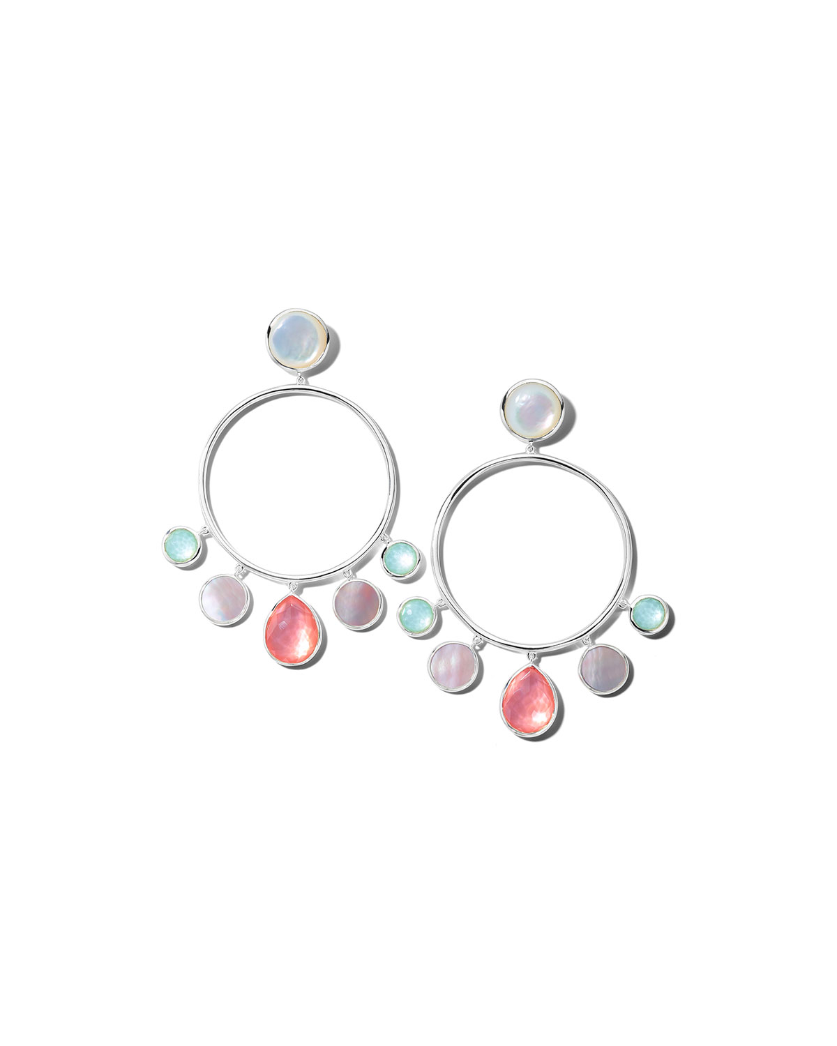 Ippolita Earrings WONDERLAND CIRCULAR CHANDELIER EARRINGS IN SAGUARO