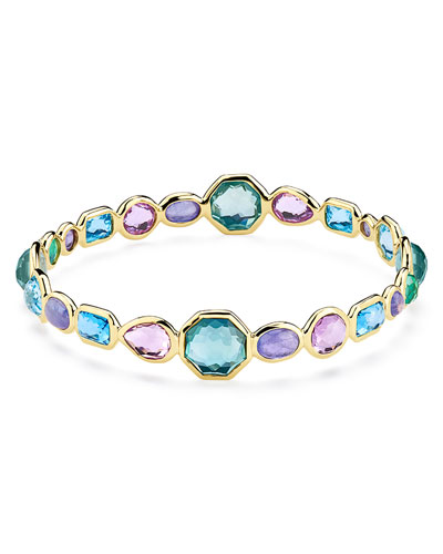 18k Gold Rock Candy Bangle Bracelet in Hologem