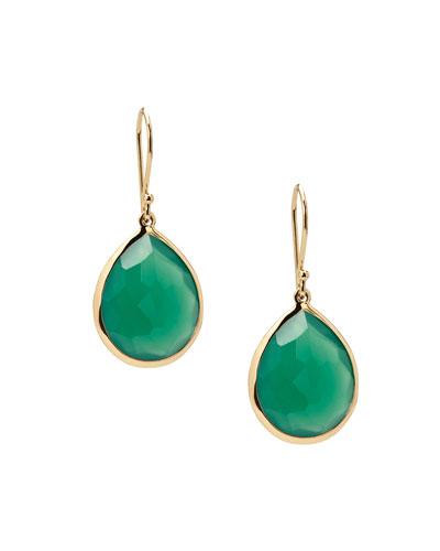 Rock Candy Lollipop Teardrop Earrings in Green Amethyst
