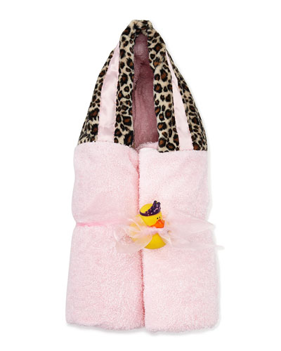 Cheetah-Print Hooded Towel