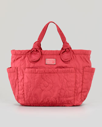 Eliz-A-Baby Pretty Nylon Diaper Bag, Rose Petal