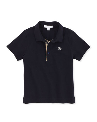 Linter Check-Trim Polo, Navy, 4Y-10Y