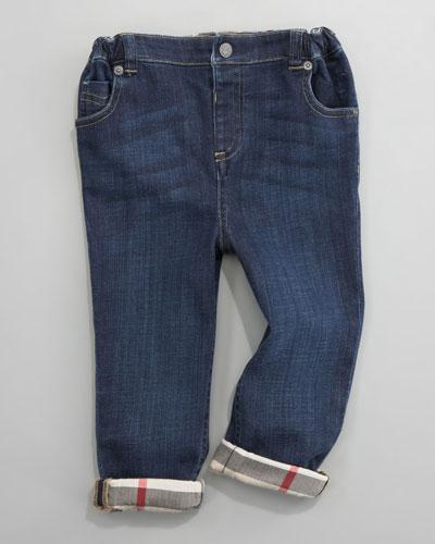 Five-Pocket Denim Trousers, 6 Months- 2Y