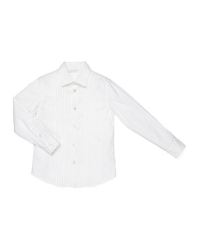 Long-Sleeve Formal Shirt, White, Kids' Sizes 4-12