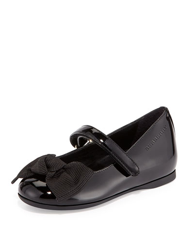 Trixie Patent Leather Mary Jane Flat, Black, Toddler