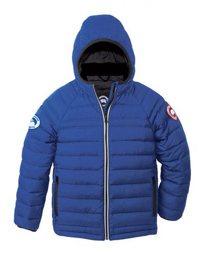 Sherwood Hooded Puffer Jacket, Royal Blue, Size XS (6-7)-XL(12-14)