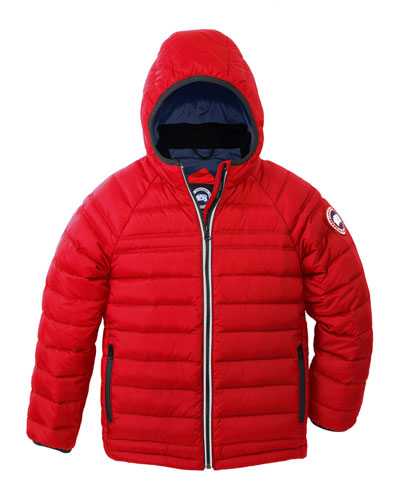 Sherwood Hooded Puffer Jacket, Red, Size XS-XL