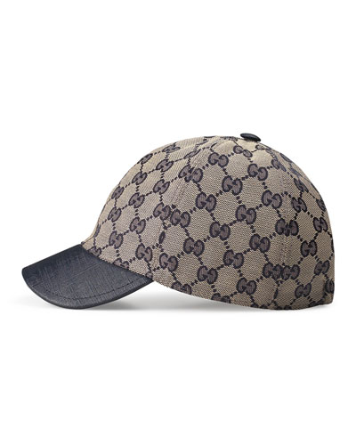 Kids' GG Supreme Baseball Cap, Beige/Blue