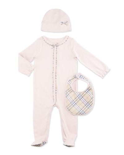Jacey Footie Pajama Layette Set, Powder Pink, Size 1-18 Months