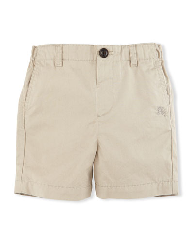 Sean Cotton Military Chino Shorts, Taupe, Size 6M-3