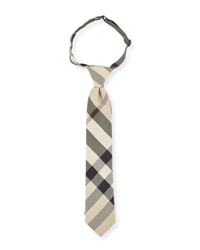 Kids' Manston Silk Check Tie, New Classic