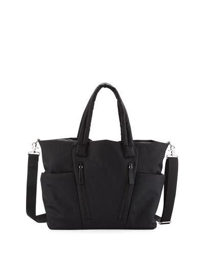 Ellie Nylon Diaper Bag, Black