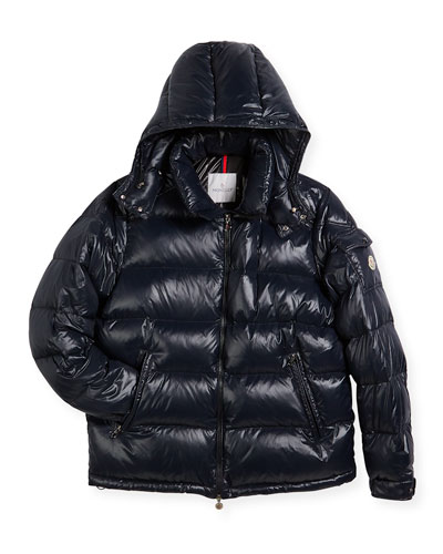 Maya Quilted Down Jacket, Black, Size 8-14