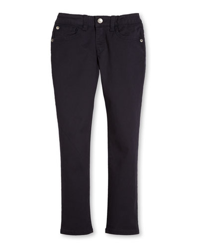 Skinny Stretch Chino Pants, Navy, Size 4-12