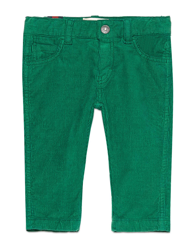 Straight-Leg Stretch Corduroy Pants, Green, Size 6-36 Months
