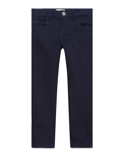 Slim Stretch Denim Pants, Indigo, Size 4-12