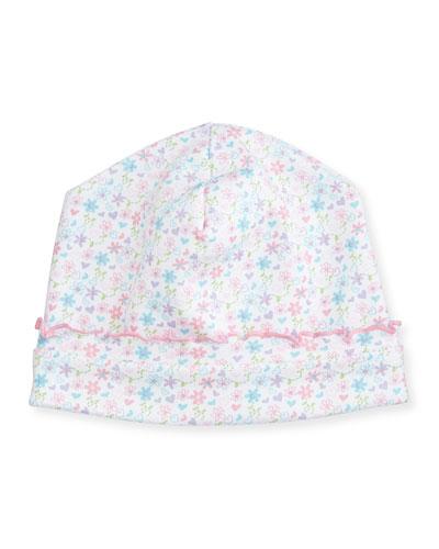 Elegant Ellie's Printed Pima Hat, Pink